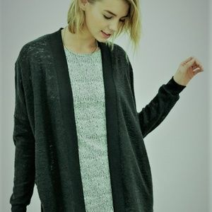 UO Silence + Noise Green Burnout Cozy Cardigan XS